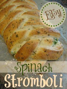 Easy Spinach Stromboli!