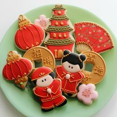 chinese lanterns, chinese new years, year cooki, parties, food, decorated cookies, chinese style, cookie cutters, biscuit