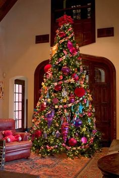 awesom tree, huge christma, christma tree, glamor holiday, christma idea, bright tree, favorit tree, christmas trees, big ornament