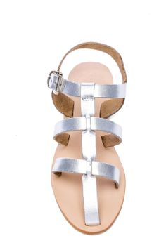 Sandal in Metallic Silver