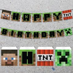 INSTANT DOWNLOAD / Minecraft / Party Banner