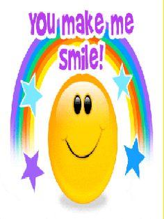 You make me smile! Gif