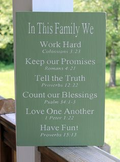 Religious Family Rules Sign, Bible Verses Rules Sign, Christian Values sign, Family Values sign