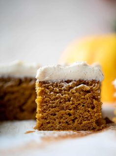Pumpkin Sheet Cake - Pumpkin Dream Sheet Cake