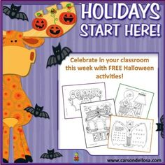Celebrating Halloween in your classroom this week? We've got tons of FREE Halloween Activities and Ideas to help make the day festive!
