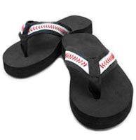 Baseball flip flops!! Must have!!