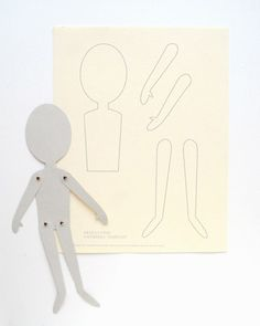 Tutorial/Templates: Jointed paper doll  I wonder if you could do this with magnet sheets to make a magnet paper doll?