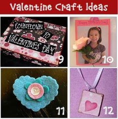 12 DIY Valentine Craft Ideas Are you ready for a new project? Thanks to @Laurie Turk TipJunkie.com for these great ideas!