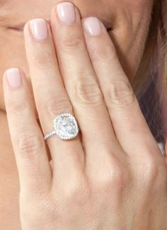 dream ring, ring pictur, diamonds, nail colors, engagements, cushion, celebrity engagement rings, wedding rings, engag ring