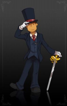 Professor Layton with a new look