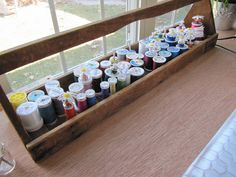 AMAZING organizing ideas for your craft room (or anywhere). I love this old tool box for thread!!!!  by Sew Many Ways...
