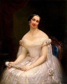 Julia Gardiner Tyler - second wife of President John Tyler - married in 1844 at the age of 24. (First family children resented & never accepted her).