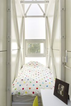 Inside the Keret House in Warsaw – the World's Skinniest House at only 4 feet wide! Too small to be considered a residence by Polish law, it must be officially classified as an art installation.