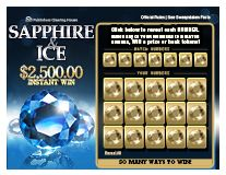 Scratch Off Game $2,500.00 Sapphire & Ice