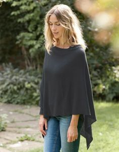 Superfine Cashmere 2 way Poncho - Willow Cashmere