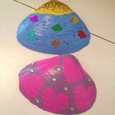 sea shell, paint shell