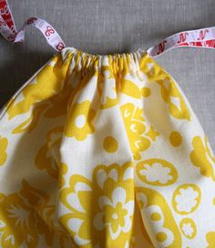 easy drawstring bag - perfect to individualize diaper grab and go bags for each kid