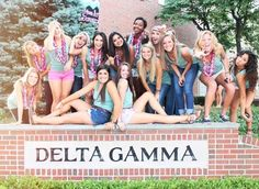 Who wouldn't want to be a DG? Look at these smart, sassy, fun women! Sisterhood at it's finest! Fun times with great friends!