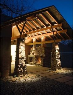 Bungalow style carport/front entrance