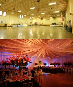 Never underestimate the power of draping and LED lights!!!