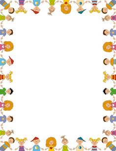 Printable children border. Free GIF, JPG, PDF, and PNG downloads at http://pageborders.org/download/children-border/. EPS and AI versions are also available.