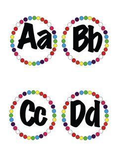 FREE word wall alphabet!