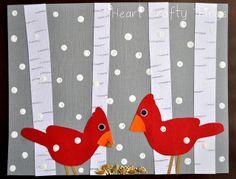 I HEART CRAFTY THINGS: Aspen Tree Winter Art