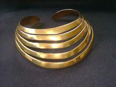 yummy! Vintage  Rare Gold Neck Cuff  artist STEVE VAUBEL by truthorwear, $915.00