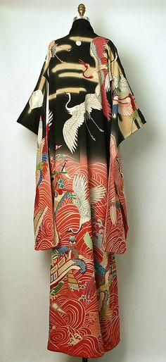 Furisode kimono, 1850~1950, Japan