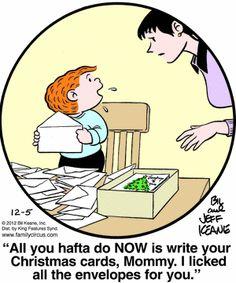 Family Circus Cartoon for Dec/05/2012
