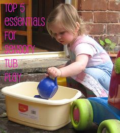 Top 5 essential ingredients for sensory play tubs