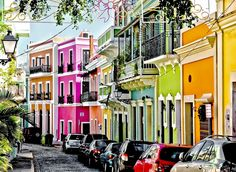 Vibrant and colorful homes in San Juan, PR