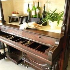One way to recycle an upright piano!