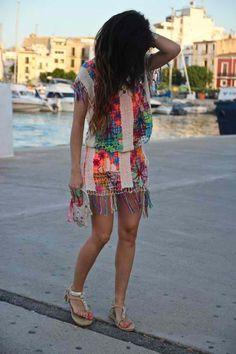 Ibiza crochet dresses.