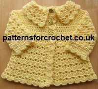 Free Baby crochet pattern coat from http://www.patternsforcrochet.co.uk/free-baby-crochet-pattern-e-book.html also new free pattern link every week and bonus pattern included. #freecrochetpatterns #patternsforcrochet