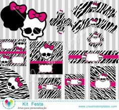 Kit Festa Monster High mod:799 Printable Party Monter High