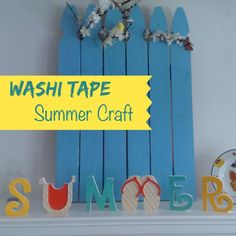 Fun & Easy Summer Letters!  Letters and some washi tape from Pick your plum!  #PYP #washitape #summer #diy #fun