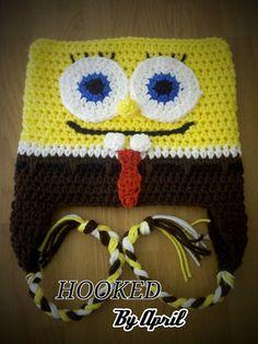 Spongebob hat by HookedByApril on Etsy, $12.00