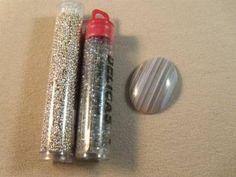 Seed bead bezeled cabochon tutorial