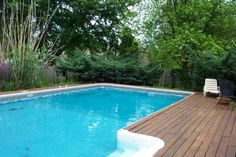 inground pool deck option