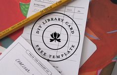 Free DIY Library Card and Envelope Template