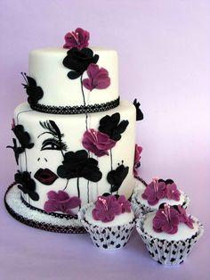 Elegant cakes — Mother's Day Cakes Gateau Decore, Eleg Cake, Elegant Cakes, Mother'S Day Cakes, Cake Decor, Cake Mother, Fun Cake, Flower, Black