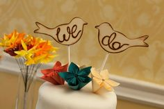 love bird cake topper