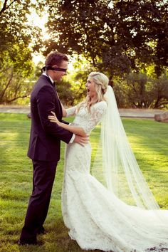 """I'm SO doing the whole blindfold """"pre-wedding"""" hug and prayer thing. <3"""