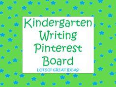 Great KINDERGARTEN WRITING PINTEREST BOARD loaded with writing ideas! Background by www.sassy-designs.net