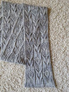 """A beautiful scarf pattern by Donna Brooks! I used MadelineTosh """"Tosh Merino Light"""", a fingering weight yarn!  Lovely!"""