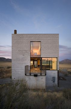 idaho, architects, houses, modern architecture, box, homes, deserts, extreme weather, design