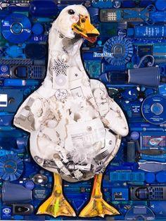 Trash to Treasure Art Mosaic created by mosaic artist Jason Mecier