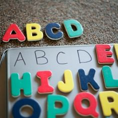 Don't throw your old cookie sheet away just yet. This is a simple project your preschooler will love!