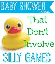 """Baby Shower Ideas and activities other than the typical """"games"""""""